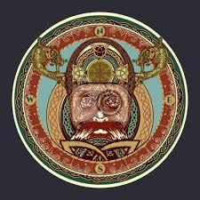 Obraz Vikingské Barevné Tetování Prsten Se Skandinávským Ornamentem