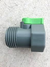 garden hose to pvc 1 water shut off ball valve threaded nozzle coupling