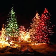 tree lighting ideas. Out Door Christmas Tree Lights The Best Outdoor Lighting Ideas That Will Leave You Breathless .