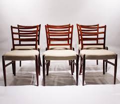 Dänische Esszimmerstühle Aus Palisander Wolle Von Niels Otto Møller 1960er 6er Set