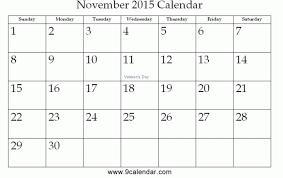 November 2015 Calendar Free Printable Premieredance