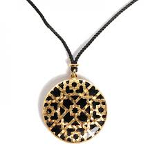 tiffany 18k yellow gold black onyx paloma s marrakesh dome pendant necklace 101752