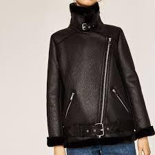 zara ss17 faux fur collar biker jacket u p 179 2969 269 800 women s fashion clothes outerwear on carou