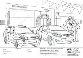 Kleurplaat Openingsweekend Welling Autobedrijven