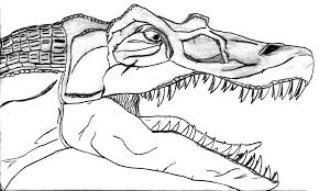 Small Picture Spinosaurus Coloring Page For Coloring Pages itgodme