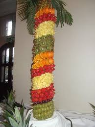 Pineapple Palm Tree Fresh Fruit Display  Wedding  Pinterest Fresh Fruit Tree Display