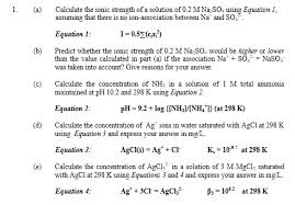 Solved Calculate The Ionic Strength Of A Solution Of 0 2