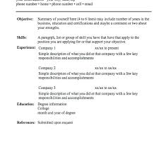 Simple Resume Sample Doc Resume Sample Doc Simple Resume Template