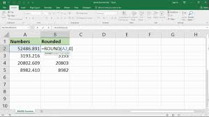 Excel Round Formulas Using The Excel Round Function To Round Numbers In Excel