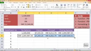 amortization function excel 00037 function pmt excel loan amortization schedule youtube