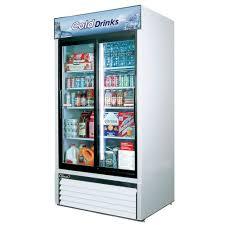 Glass Refrigerator Air Tgm 35r 2 Sliding Glass Door Merchandiser Refrigerator 35 Cu