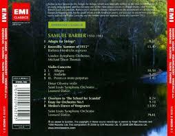 samuel barber adagio for strings violin concerto knoxville samuel barber adagio for strings violin concerto knoxville summer 1915