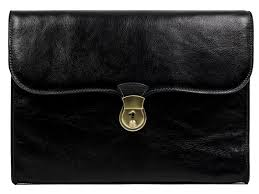 black leather portfolio doent holder age of innocence