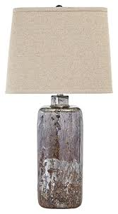 contemporary table lighting. Ashley Furniture L430044 Shanilly Contemporary Table Lamp, Multicolored Lighting