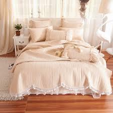2017 100 cotton quilted comforter for summer bedding set filling cotton velvet duvet cover set