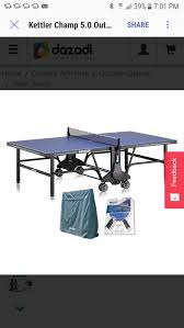 kettler champ 5 0 outdoor table tennis table with outdoor accessory bundle 2 halo 5 0 rackets cover and for in boca raton fl offerup