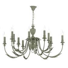 emile 12 light ceiling chandelier in ash grey finish