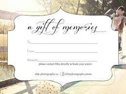 Photography Gift Certificate Template Free Photography Gift Certificate Templatesharetemplatedesigncom