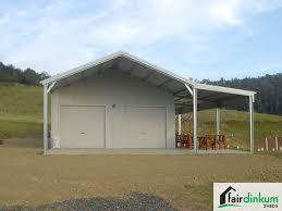 garage with garaport lean to