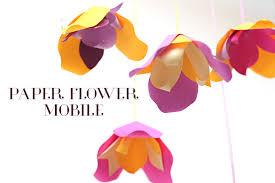 Paper Flower Mobiles Diy Paper Flower Mobile Philippines Mommy Family Blog