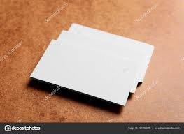 Blank Business Cards On Color Background Stock Photo Belchonock