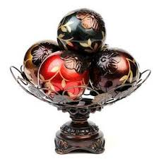Decorative Bowl With Orbs Decorative Vine Glass Orb Bowl by Kirklands Olioboard 44