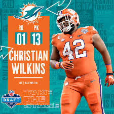 Christian Wilkins Drafted 13th By The Miami Dolphins Goes