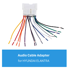 car stereo wiring harness audio cable plug adapter for hyundai elantra stereo wiring harness diagram Stereo Wiring Harness #48