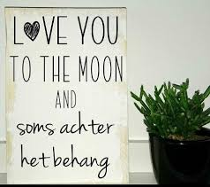 Love You To The Moon And Soms Achter Het Behang Familie Vrienden