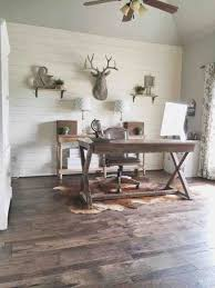 home office wall decor. Design With Light Green Painted Rhkinggeorgehomescom Diy Shiplap Wall And Beautiful Hickory Rhsolosumbacom Rustic Office Home Decor S