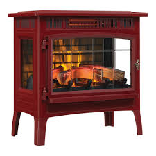 duraflame 3d cinnamon infrared electric fireplace stove with remote control dfi 5010 03