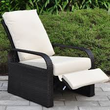 Patio Recliner Chairs Amazoncom Outdoor Resin Wicker Patio Recliner Chair With