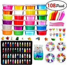 diy crystal slime kit slime kits for kids art craft 48 glitter powder