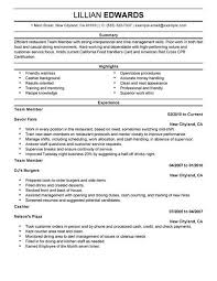example of restaurant resume food industry resume examples examples of resumes