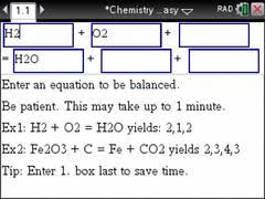 acirc middot chemistry made easy step by step the ti nspire cx cas acirc  step by step equation balancer using the tinspire