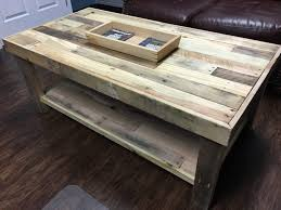 Pallet Coffee Table With Stained StripesPallet Coffee Table