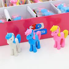 <b>3pcs Cute Unicorn</b> Horse Rubber Eraser Cartoon Animal Kawaii ...