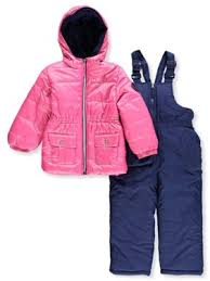 Product Image Foil Printed Polar Fleece Lined Jacket and Snowbib, 2-Piece Set (Little Girls Pink Coats \u0026 Jackets - Walmart.com