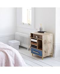 millie unstained mango wood bedside