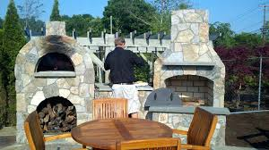laying brick for outdoor fireplace and oven build your own small