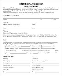 Room For Rent Contract Room Share Agreement 7 Room For Rent Contracts Samples Templates Pdf