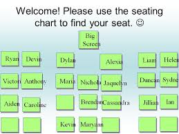 Welcome Please Use The Seating Chart To Find Your Seat