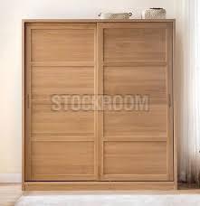 cubic solid oak sliding door wardrobe