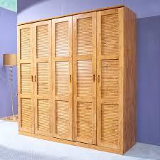 pure solid wood cedar wardrobe closet 5 large wooden wardrobe sliding door wardrobe flat raw wood style furniture custom storage cabinets in