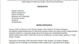 Interior Designer Resume Template Best Design Tips