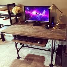 steel pipes pine 2x6 decided that i would build a new desk