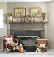 one of my favorite places to use old books is on our fireplace mantels they re perfect for filling in empty spots and for adding height and texture