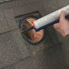 sealing around roof vent with roof cement
