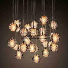 ecolight modern lamps led pendant chandelier lights transpa crystal globes stairs loft light fixtures led