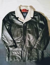 never worn vintage gap leather jacket